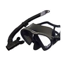 Набор (маска+трубка) BARRACUDA черный силикон, черный Atlantis M2012-S172-BKS