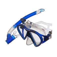 Набор (маска+трубка) BARRACUDA прозрачный силикон, синий Atlantis M2012-S172-TBL
