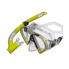 Набор (маска+трубка) BARRACUDA прозрачный силикон, желтый Atlantis M2012-S172-NY
