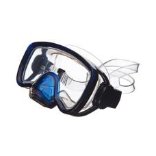 Маска IMPERIUS NEO носовой клапан, моностекло, прозрачный силикон, синяя Atlantis M-115-A-BK-TBL/BS
