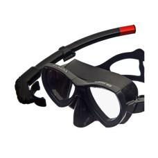 Набор (маска+трубка) MURENA черный силикон, черный Atlantis M208-S162-BKS