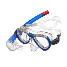 Набор (маска+трубка) MURENA прозрачный силикон, синий Atlantis M208-S162-TBL