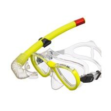 Набор (маска+трубка) MURENA прозрачный силикон, желтый Atlantis M208-S162-NY