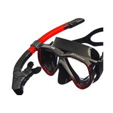 Набор (маска + трубка) Open Water черный силикон, красная отделка маски и трубки Atlantis M218S153BK/TRD/BKS