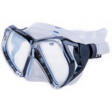Маска Butterfly прозрачный силикон синяя рамка Corrall MK-210 CB/CL