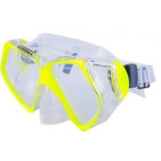 Маска Butterfly прозрачный силикон желтая рамка Corrall MK-210 NY/CL
