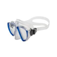 Маска Experta 2 прозрачный силикон, синяя рамка Corrall М-216CL-BL