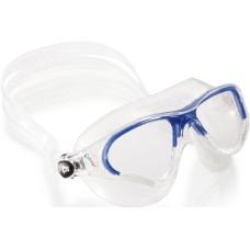 Очки COBRA прозрачный силикон/прозрачные линзы/синяя рамка Cressi DE201922