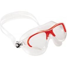 Очки COBRA прозрачный силикон/прозрачные линзы/красная рамка Cressi DE201958