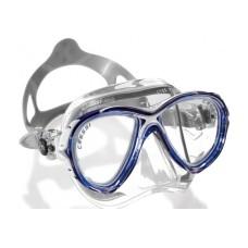 Маска EYES EVOLUTION CRYSTAL прозрачный силикон синяя рамка Cressi DS350020