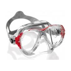 Маска EYES EVOLUTION CRYSTAL прозрачный силикон красная рамка Cressi DS350080