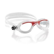 Очки FLASH прозрачный силикон / красные / линзы прозрачные Cressi DE202358