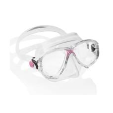 Маска MAREA прозрачный силикон розовая рамка Cressi DN281040