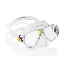 Маска MAREA прозрачный силикон желтая рамка Cressi DN281010
