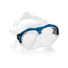 Маска MATRIX прозрачный силикон синяя рамка Cressi DS301020