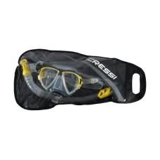 Набор маска MATRIX + трубка GAMMA цвет прозрачный силикон / желтый Cressi DS302504