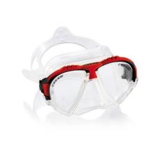 Маска MATRIX прозрачный силикон красная рамка Cressi DS301080
