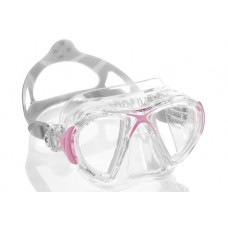 Маска NANO прозрачный силикон розовая рамка Cressi DS360040