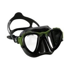 Маска OCCHIO PLUS черный силикон зеленая рамка Cressi DS295098
