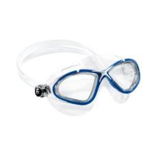 Очки PLANET прозрачный силикон/синяя рамка Cressi DE202620