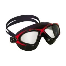 Очки PLANET черный силикон/черно-красная рамка Cressi DE202758