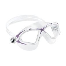 Очки PLANET прозрачный силикон/сиреневая рамка Cressi DE202641
