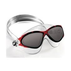Очки SATURN CRYSTAL силикон кристал/темные линзы/красная рамка Cressi DE202458