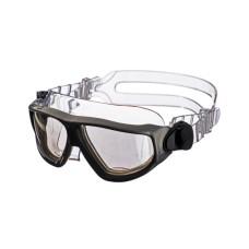 """Очки-полумаска ARGO , прозрачный силикон, черная рамка, """"дымчатые"""" линзы IST G25-ТBK-S"""