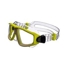 """Очки-полумаска ARGO , прозрачный силикон, желтая рамка, """"радужные"""" линзы IST G25-TNY-R"""