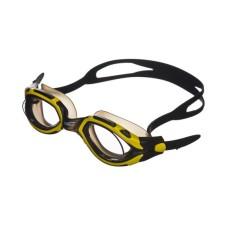 Очки для плавания LEGЕND затяжка Easy-CLIP,покрытие Аnti-FOG,рамка/линза- черный-желтый/дымчат Saeko P410AV05211