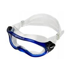 Очки монолинза, для плавания, прозр.силикон синяя рамка Saecodive M-M105BT