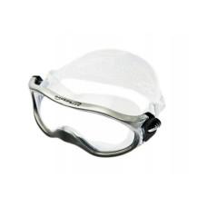 Очки монолинза, для плавания, прозр.силикон серая рамка Saecodive M-M105E