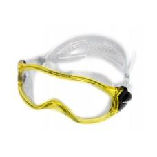Очки монолинза, для плавания, прозр.силикон желтая рамка Saecodive M-M105YT2