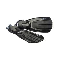 Ласты TORNADO для дайвинга, комбинированный термопласт, черные L, M, XL Saekodive 2061K