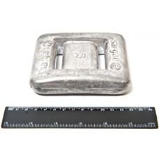Груз САР 2 кг без покрытия GRSAR2