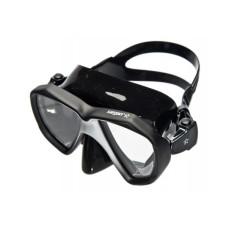 """Маска """"НЕМАН"""" черный силикон, рамка черная/черная отделка """"leatherpaint"""" Sargan M-2203LKS-K"""