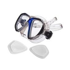 """Маска """"НЕМАН"""" прозрачный силикон, рамка синий металлик Sargan M-2203A-B"""