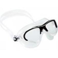 Очки COBRA прозрачный силикон/прозрачные линзы/черная рамка Cressi DE201950